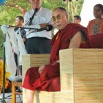 H.H. the Dalai Lama addressing to the audience