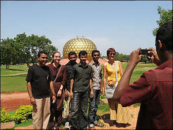 Photographer:   Tourists in fornt of the Matrimadir