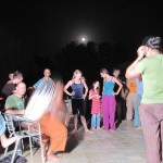 Under the raising moon over Auroville