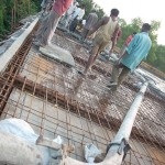 Pumping the cement on top of CRIPA