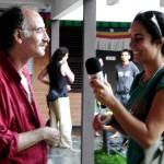Teodoro and Mari at the Tibetan Pavilion. Pic by Uma.