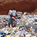 Piling trash