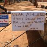 Message pour les sportifs