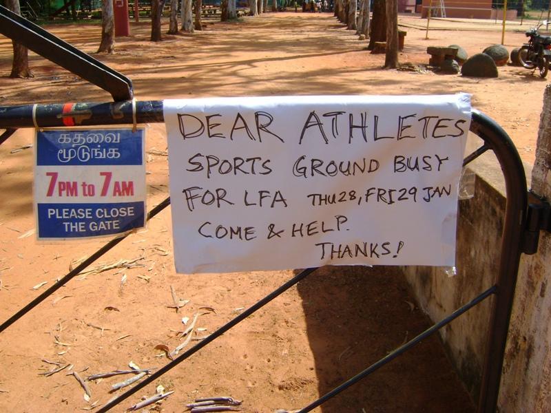Photographer: | Message pour les sportifs
