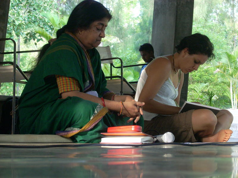 Photographer:Andrea | On the left Meenakshi with Anandamay