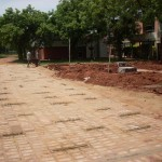 Road construction behind Town Hall
