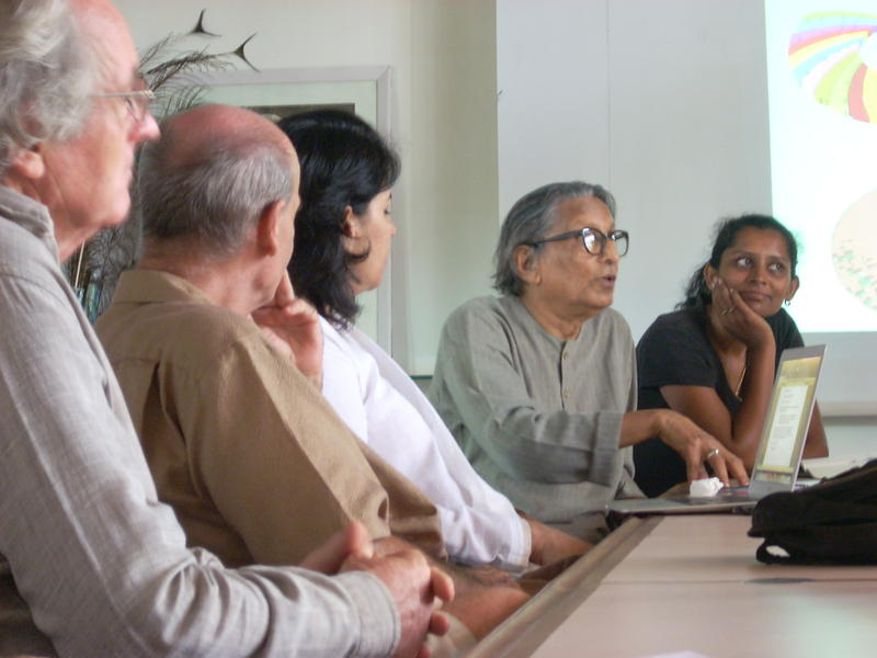 Photographer:Andrea | Mr. B. V. Doshi meeting with L'Avenir