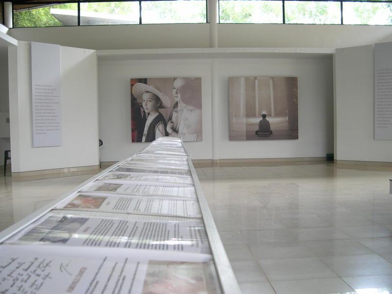 Photographer:Andrea | L'interno della Exibition Room al Visitor Center, punto focale per ogni visitatore di Auroville.