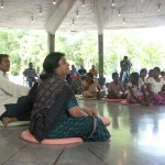 Meenakshi listening the speech