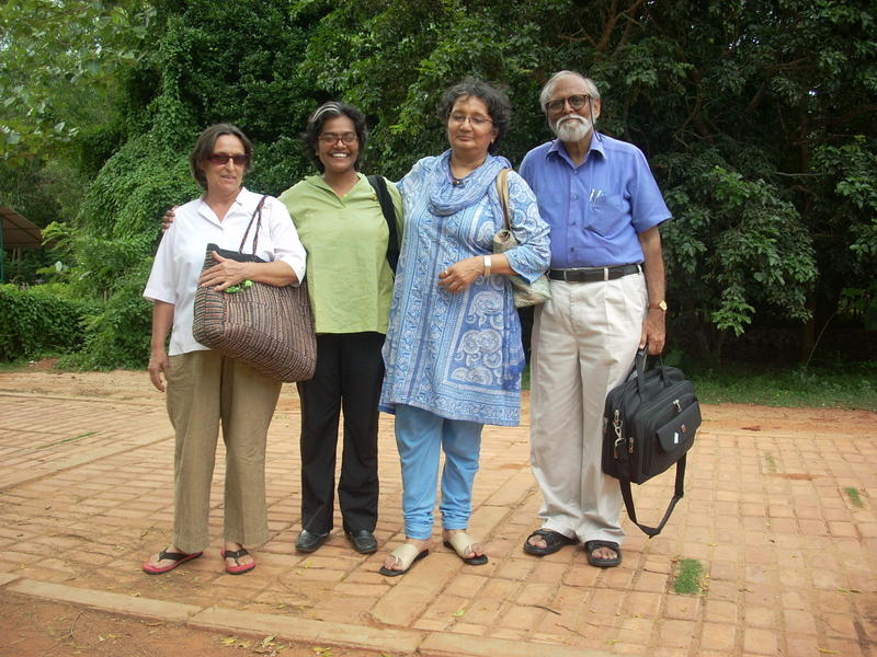 Photographer:Andrea | From Left: Tapas, Mita and the architects of the new ALL building Parul Zaveri and Nimish Patel