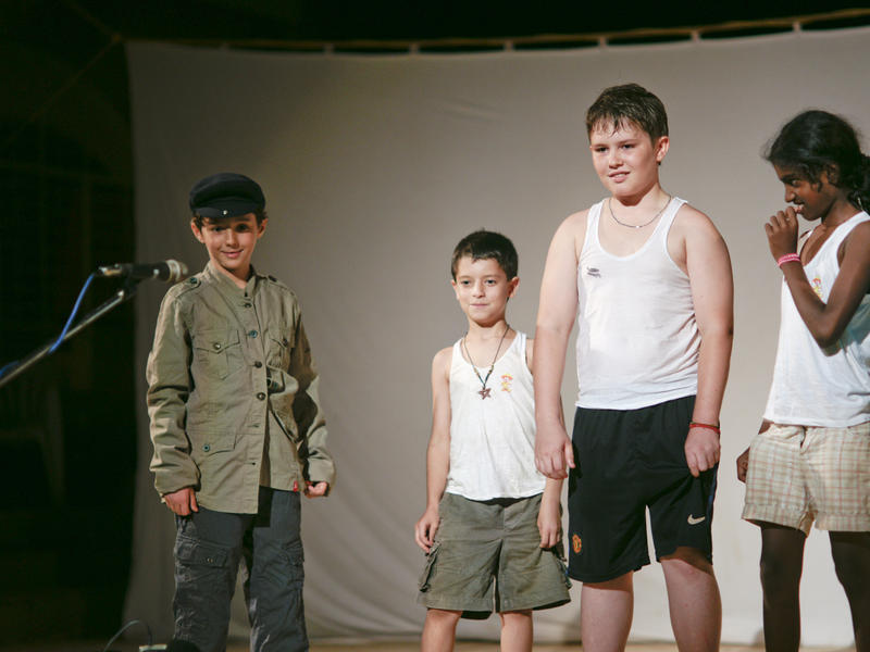 Photographer:Giorgio | Some kids are long time actors... For others is the debut.