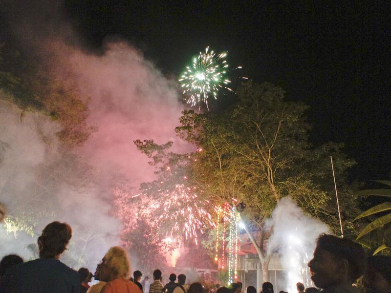 Photographer:Giorgio, Miriam, Sajju | Firework in front of Bharat Nivas