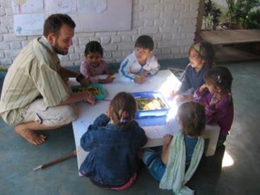 Photographer:Living Routes website | Working with children