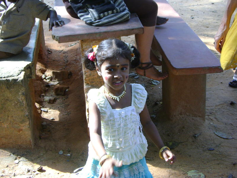 Photographer:Francesca | Kid made up for Pongal's festival