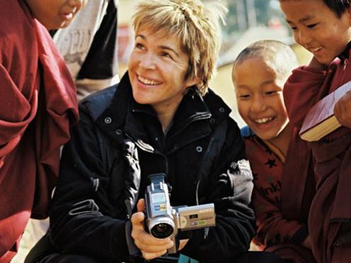 Photographer:web | Véronique Jannot avec les enfants tibétains