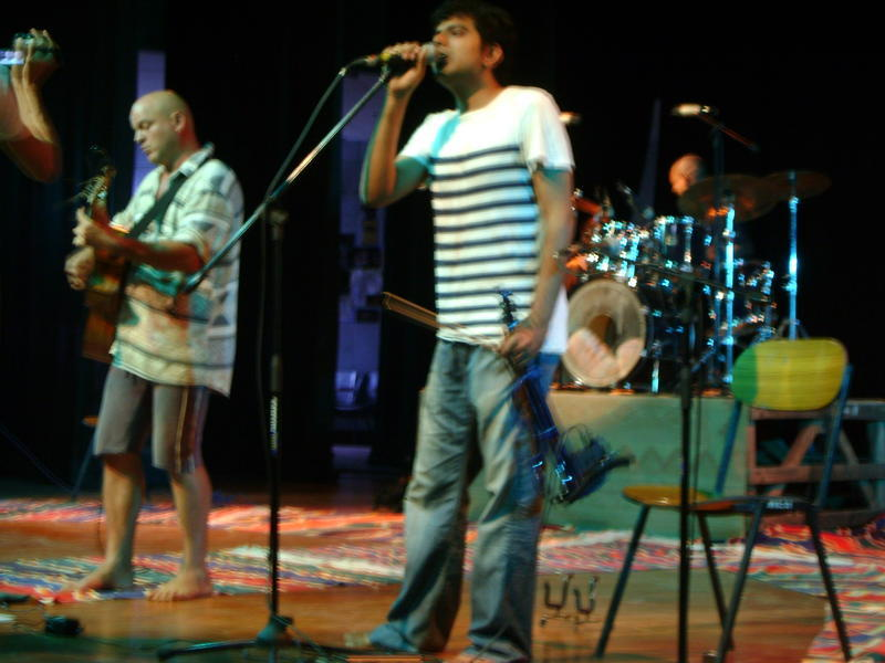 Photographer:Miriam | Krishna and Karthik at sound check
