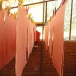 Hanging paper up to dry
