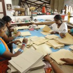 Local Tamil workers constructing date books