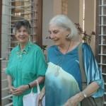 Mrs. Sonia Dyne with Shraddavan at the entrance of Savitri Bhavan
