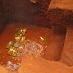 Foundation stones under water