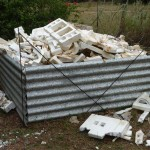 Styrofoam pieces are both light and never break down. They will be used as aggregate in applications needing concrete.