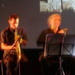 Matt Littlewood on saxophone, Holger Jetter on violin