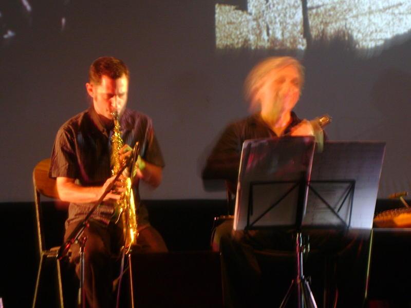 Photographer:Miriam | Matt Littlewood on saxophone, Holger Jetter on violin