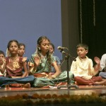 Children singing on the New Year Tamil Show