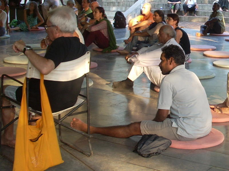Photographer:Andrea   Auroville Residents attending to the General Meeting