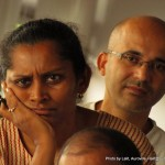 On the left Mona, Min on the right: Both are members of l'Avenir d'Auroville.