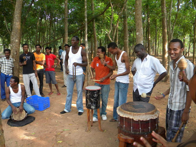 Photographer:Roman   African students and Mohanam Sound Crew