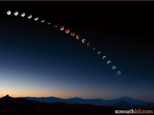 Photographer:web | Phases of lunar eclipse