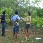 Discussion about the strip of land that had been claimed by the local person