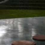 Rain painted tiles green