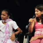 From left: Priyadharshni and Sagarika. Both have presented a movie at the Auroville Film Festival 2011.
