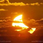 partial solar eclipse at new moon