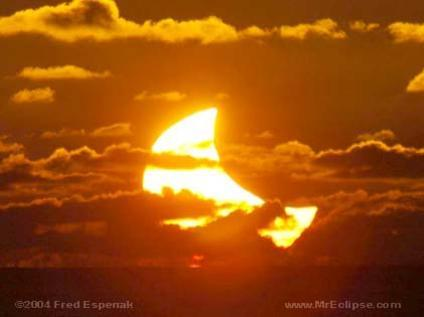 Photographer:web | partial solar eclipse at new moon
