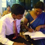 Pondicherry Engineering University students received in Town Hall