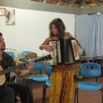 Ludovica and Paolo performing gypsy rhythms