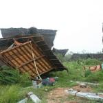 Hut destroyed