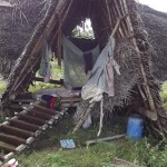 Rest of a keet house in Sadhana Forest