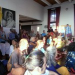 Audience listening to Prof Samdhong Rinpoche's talk