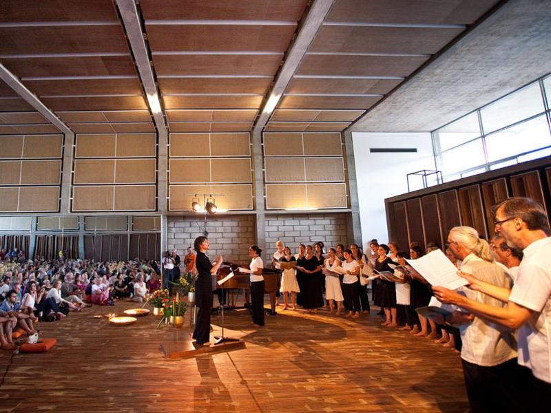Photographer:Ireno | Auroville Choir in action