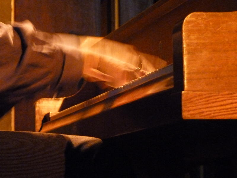 Photographer:Pooja   Fingers make love on the keyboard of piano