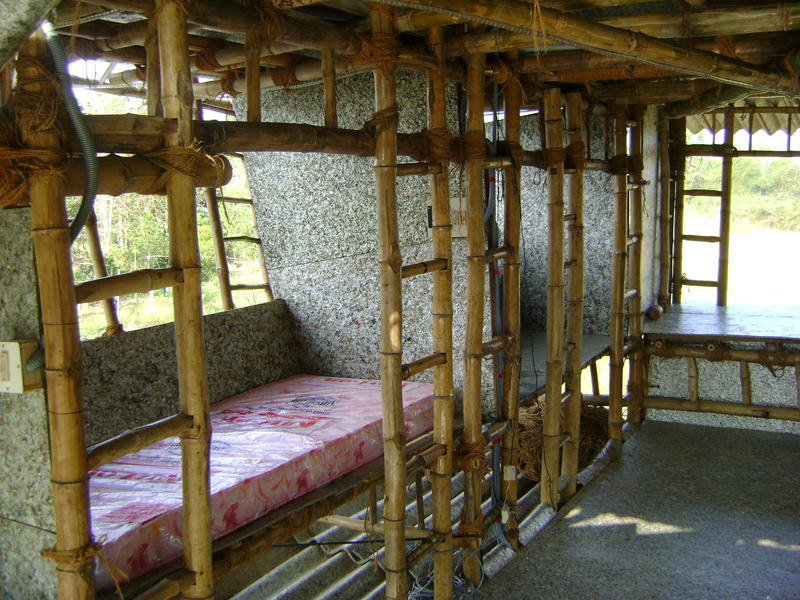 Photographer:Rebecca | the structure has 2 levels of bunks, 8 beds in all