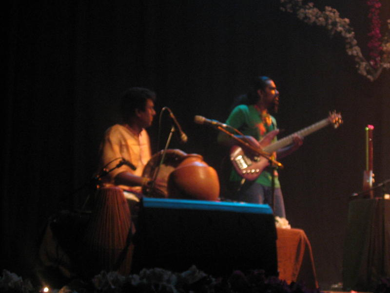 Photographer:Divya | Raasu on Bass Guitar with Souri on drums