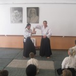 Jean-Pierre with his student from France demonstrates a technique