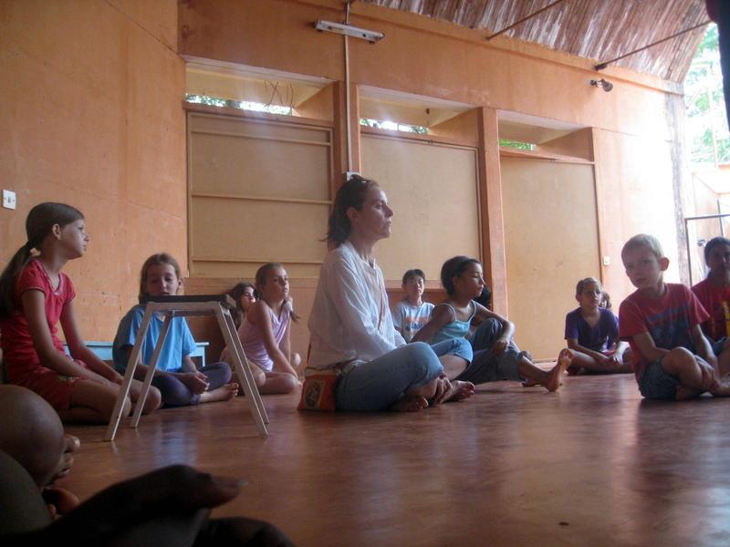 Photographer:Jorren | Devi and Bhavya discussing Laughter Yoga