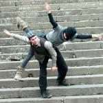 Irene and Johan dance in Viterbo, Italy