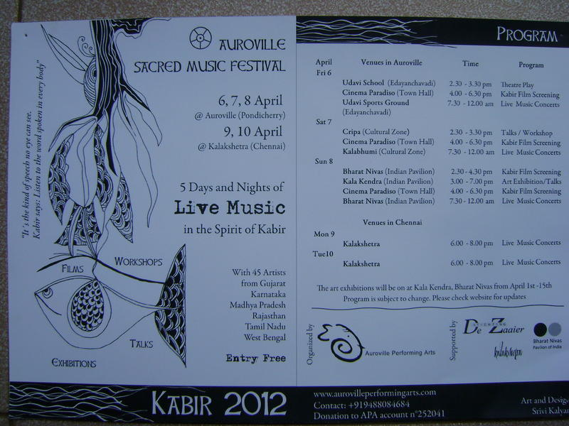 Photographer:Alma | Festival of Sacred Music - Kabir